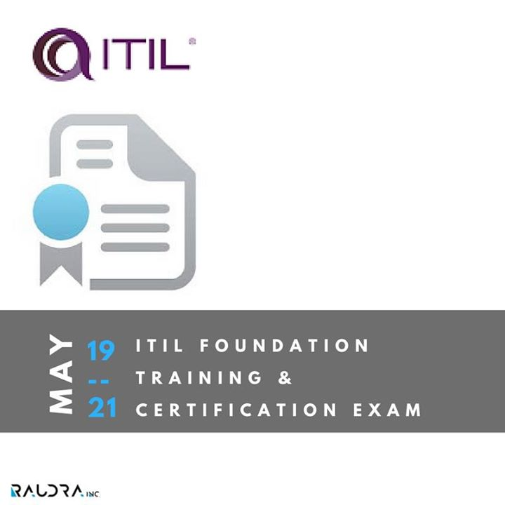 Itil V2011 Foundation Training And Certification Exam At Raudra I T