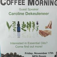 Coffee morning and essential oils