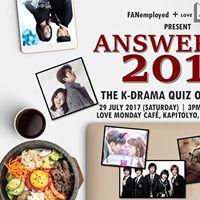 Answer Me 2017 The K-Drama Quiz Off
