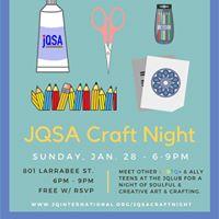 Teen JQSA Craft Night