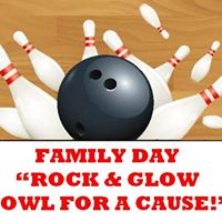 Family Day &quot Rock &amp Glow Bowl&quot for a Cause