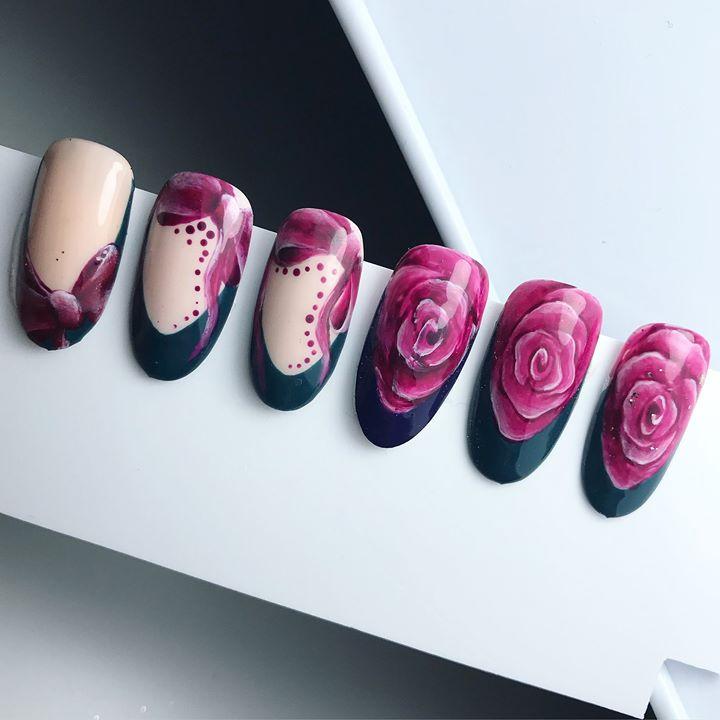 Handpainting Roses & Bows by BiBi