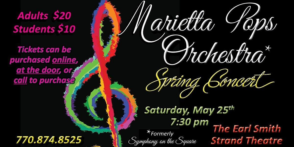 Marietta Pops Orchestra Spring Concert 2019 At Earl And Rachel Smith