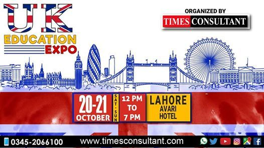 UK Education Expo in Lahore at Avari Hotel (12pm to 7pm)