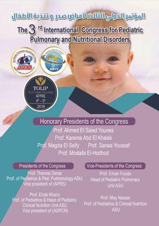 The 3 rd International Congress For Pediatric