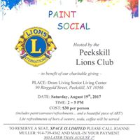 Peekskill Lions Club - Paint Social