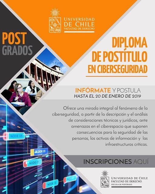 Diploma de posttulo en Ciberseguridad 2019