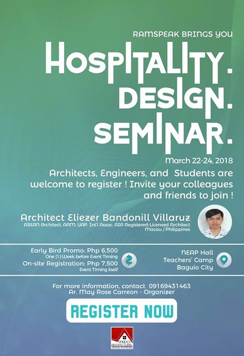 Hospitality Design Seminar at Teachers Camp Rd, 2600 Baguio