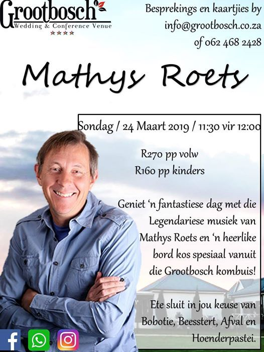 Mathys Roets Optrede