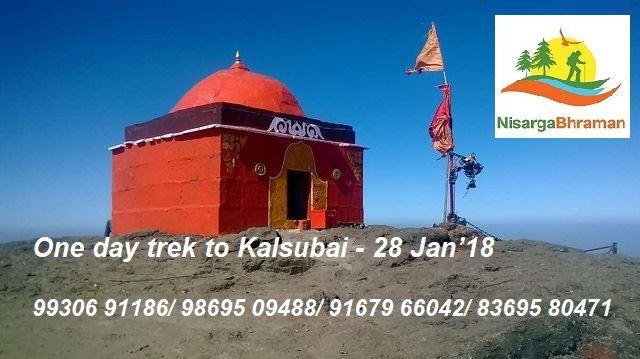 One day trek to Kalsubai on 28 Jan18