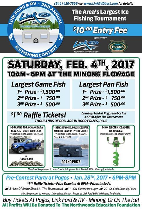 areas largest ice fishing contest at minong flowage minong. Black Bedroom Furniture Sets. Home Design Ideas