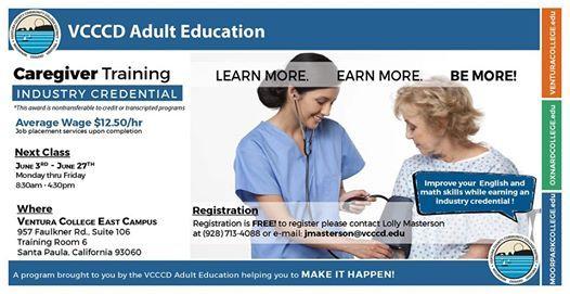 Caregiver Training Program | Begins June 3, 2019 at Ventura