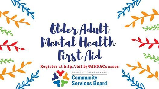Older Adults Mental Health First Aid English Mount Vernon