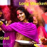 Theme Camping &amp Holi Celebration