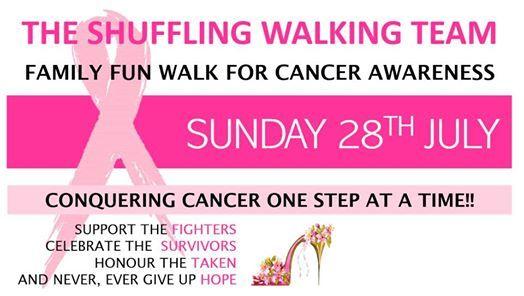 The Shuffling Walking Team Family Fun Walk for Cancer Awareness