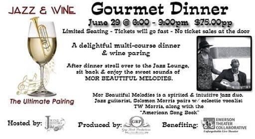 Jazz Wine Gourmet Dinner - Limited Seating