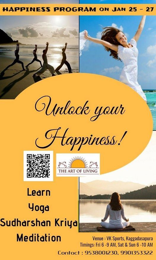 Happiness Program on Jan 25 - 27