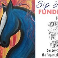 New Beginnings Equine sip-n-paint Fundraiser