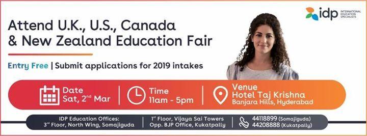 IDPs Biggest UK US Canada and NZ Education Fair
