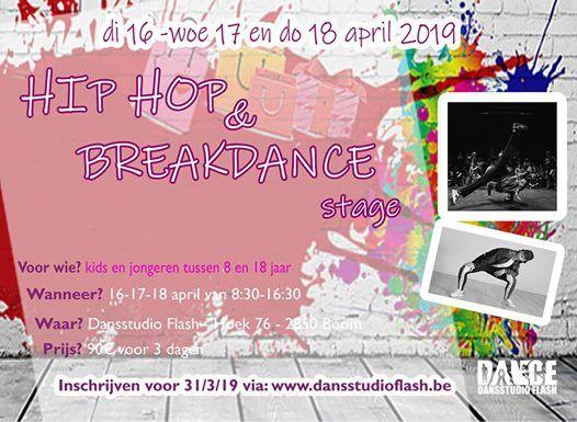 Breakdance en hip hop stage