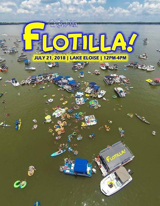 Chain Life Flotilla on Lake Eloise.