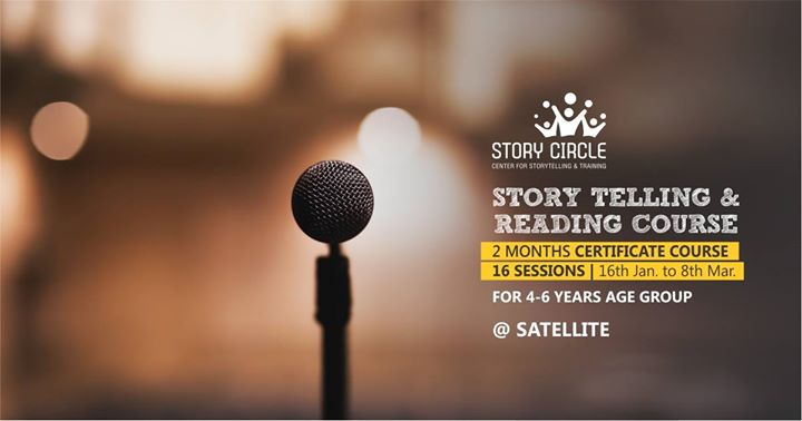 Story Telling & Reading Course for 4-6 Years (16 sessions - every Tues n Thurs)