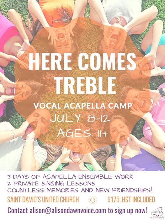 Here Comes Treble Vocal Acapella Camp at Alison Dawn Voice & Music