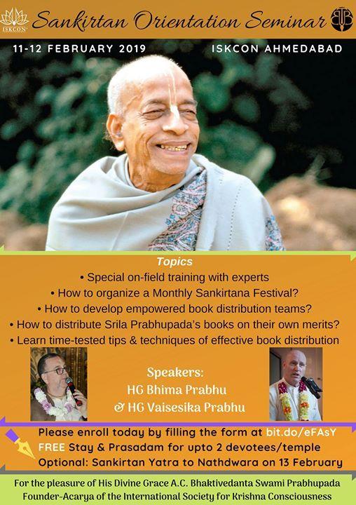 Sankirtana Orientation Seminar