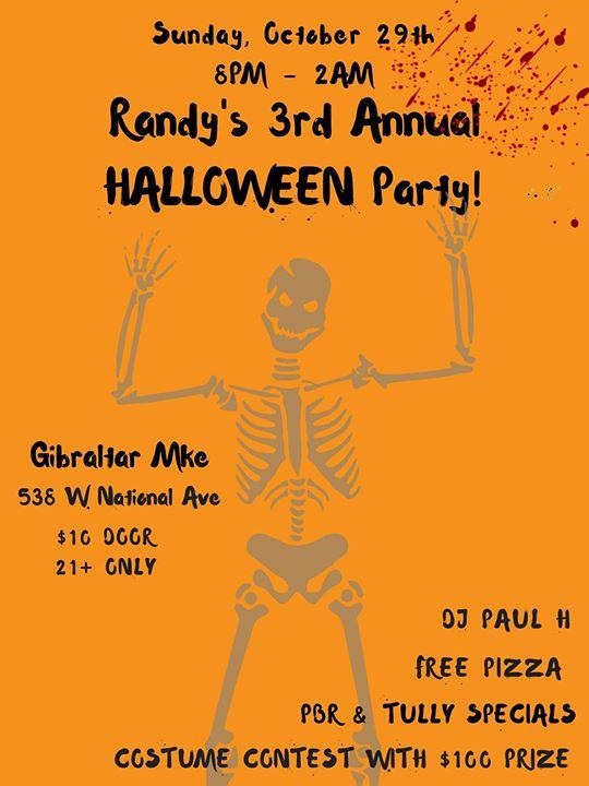 randys 3rd annual halloween party