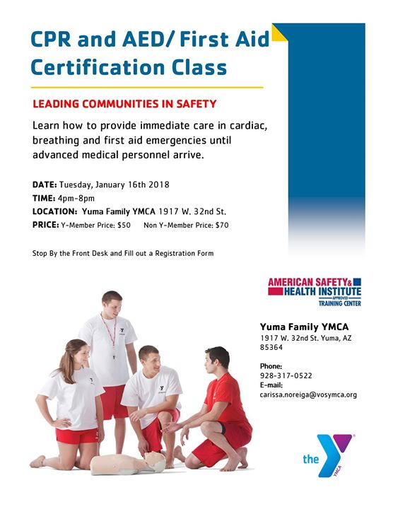 Cpr Certification Class At Yuma Family Ymca Yuma