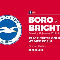 Middlesbrough v Brighton &amp Hove Albion