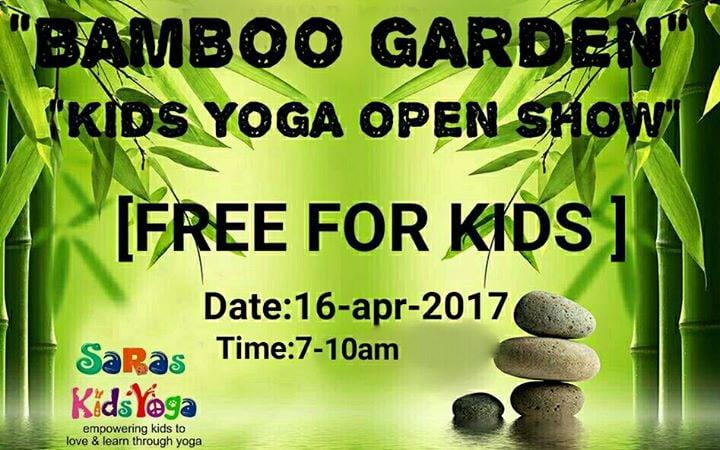 BAMBOO GARDEN Kids Yoga Open Show at Bamboo Garden Amravati
