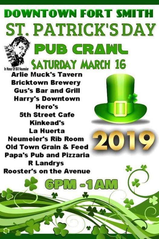 Pub Crawl 2019 Downtown Fort Smith