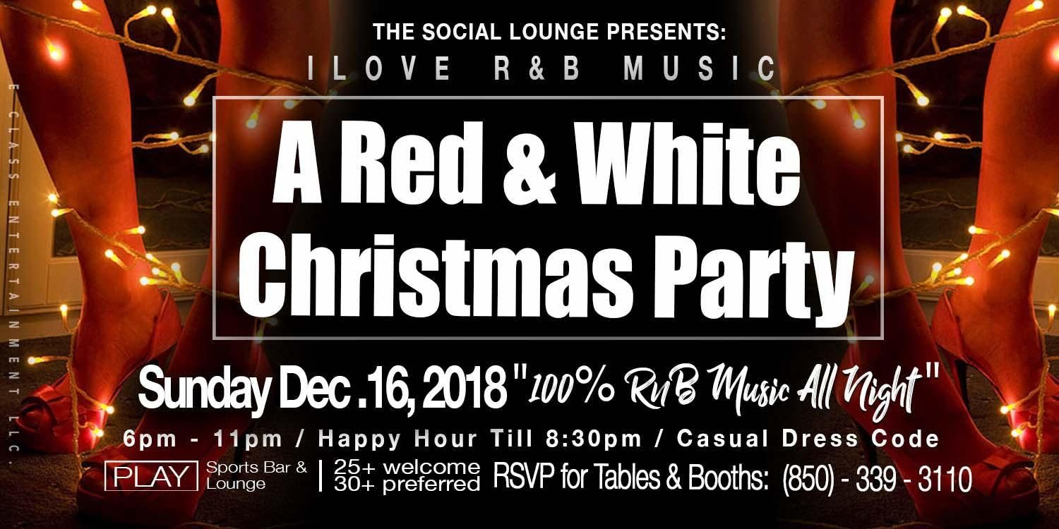 The Social Lounge Red & White R&B Christmas Party