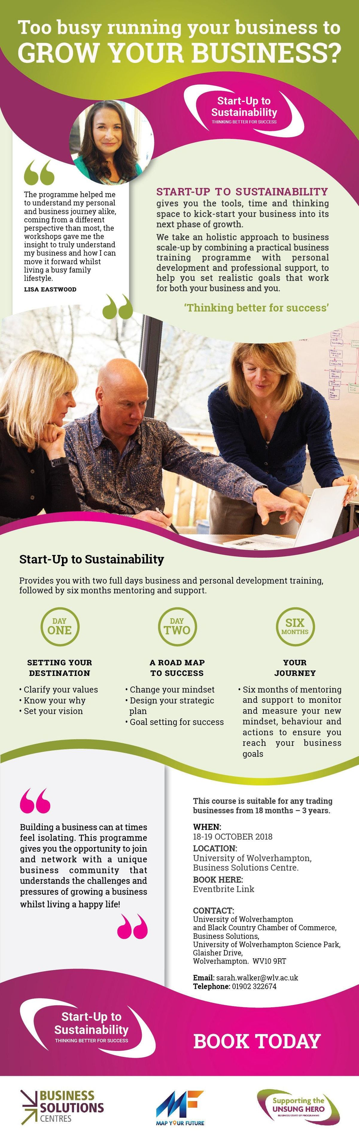 Start-Up to Sustainability - Thinking Better For Success