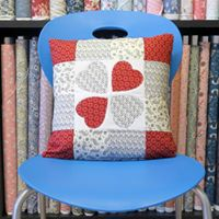 Intro to Patchwork &amp Quilting - Valentine Cushion