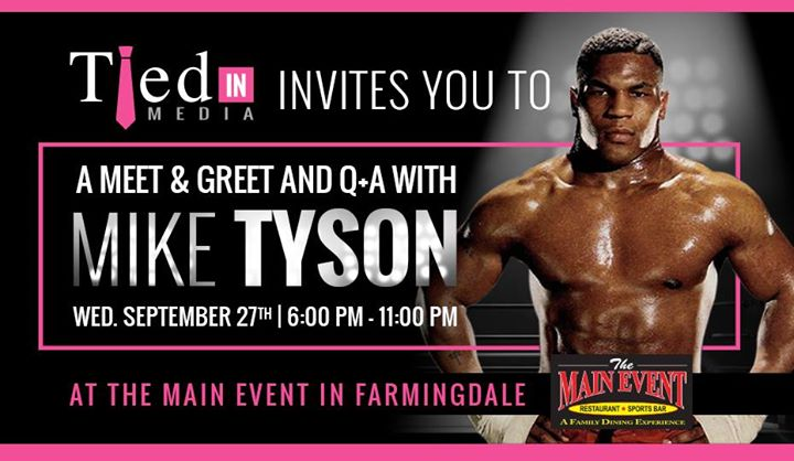 Meet greet with mike tyson at the main event ny farmingdale meet greet with mike tyson m4hsunfo