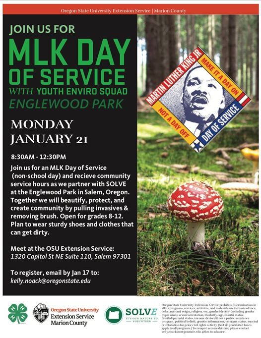 Mlk Day Of Service 2019 At Osu Extension Service Marion County Salem