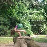 Free Yoga Jul 30 Botanical Gardens
