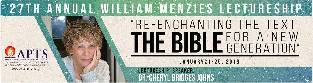 27th Annual - William Menzies Lectureship