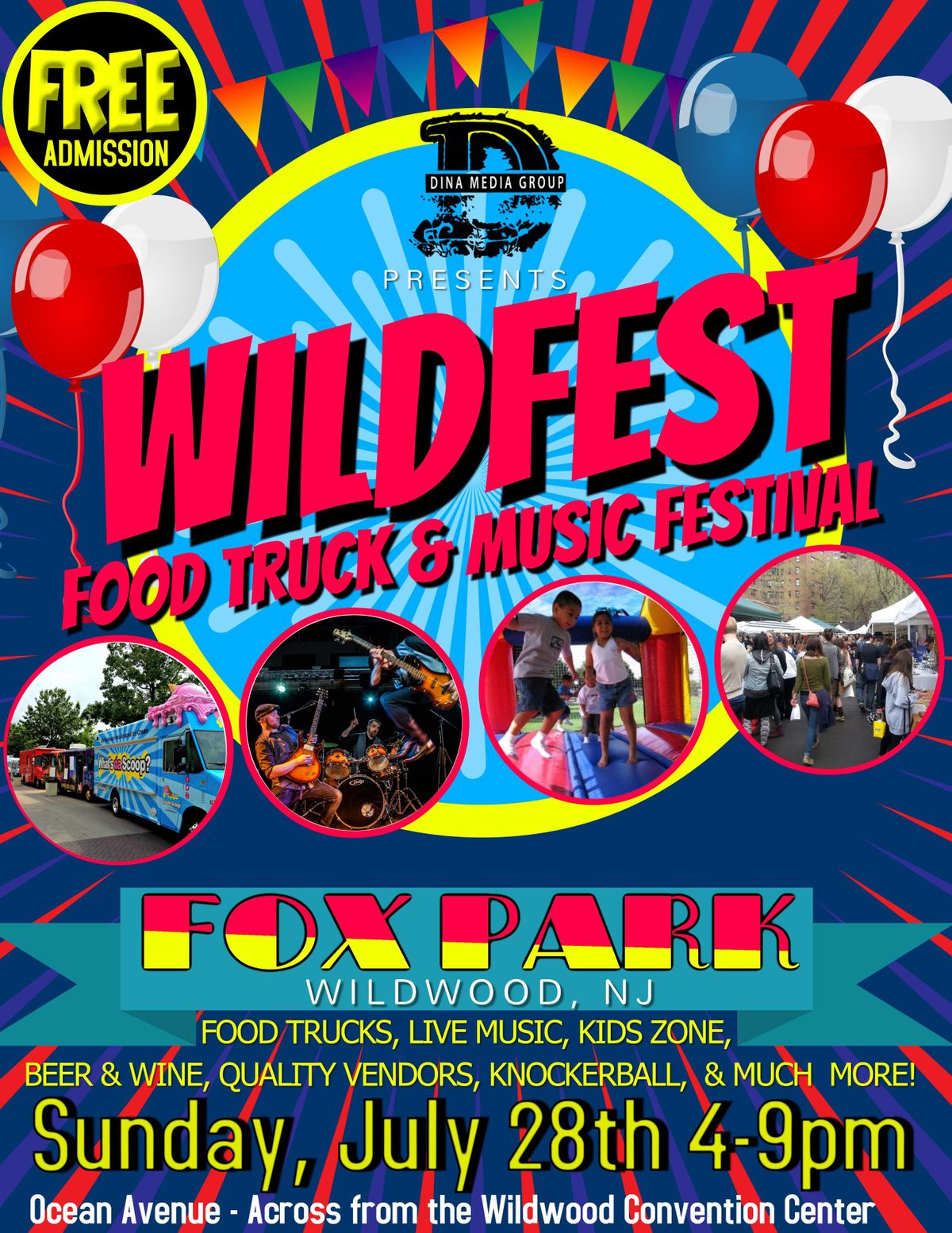 WILDFEST FOOD TRUCK AND MUSIC FESTIVAL at Fox Park, WILDWOOD