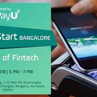 UpStart Bangalore - Future of Fintech