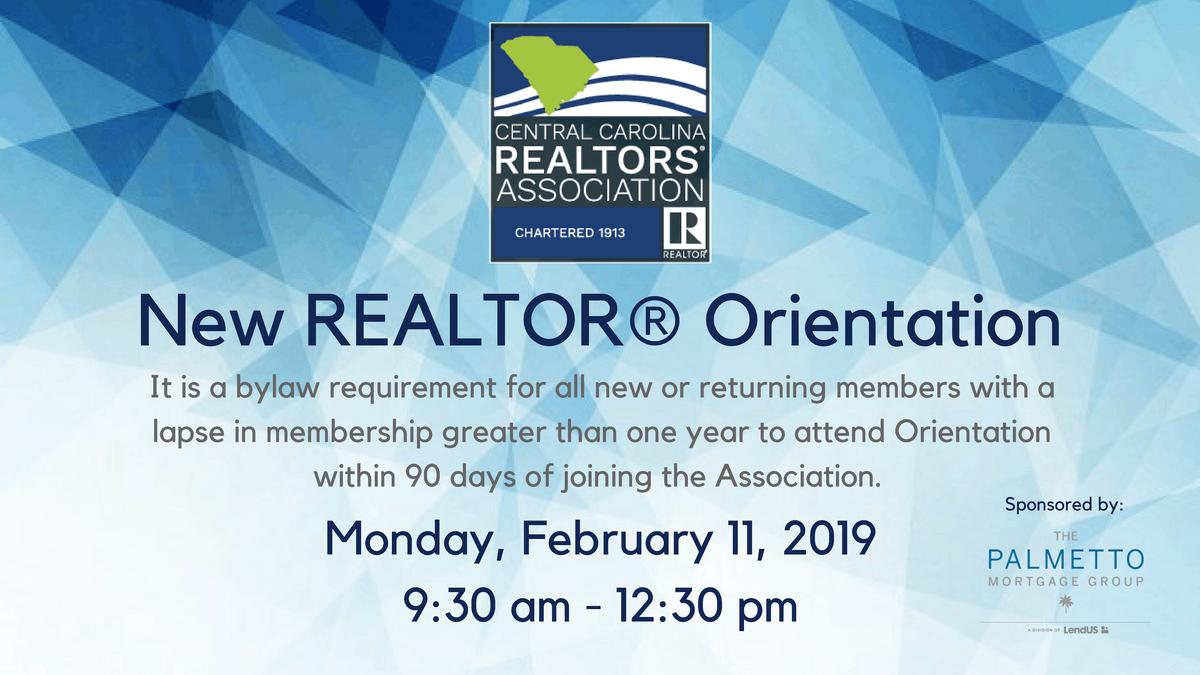 New REALTOR Orientation - February 11 2019
