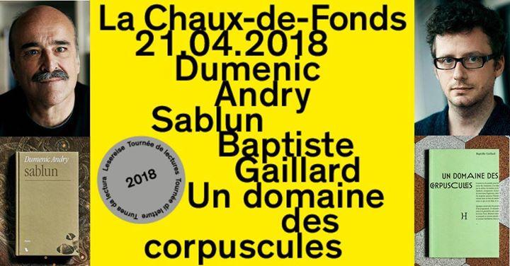 Tourne de lecture Dumenic Andry et Baptiste Gaillard