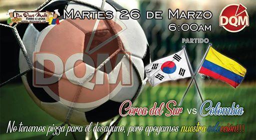 Partido Corea del Sur vs Colombia