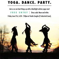 Winter Solstice Black-light Yoga Class &amp Dance Party