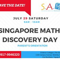 Singapore Math Discovery Day &amp Free Assessment at SAM Taguig