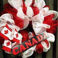 Canada 150 Sinamay Wreaths