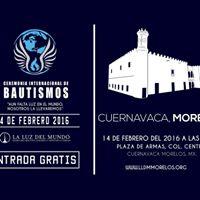 Ceremonia Internacional de Bautismos Morelos Mxico.