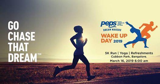 Peps Wake Up Day 2019 (5K Run & Yoga) Free Registrations